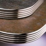"Plymold 24000AE - 24"" Round Table Top with Metal Edge"