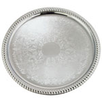 "Winco CMT-14 - 14"" Round Metal Serving Tray"