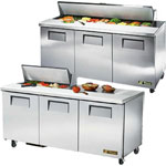 Three Door Standard Top Sandwich Prep Table