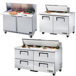 Two Door Standard Top Sandwich Prep Table